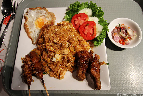Nasi Goreng MBK mall food court Bangkok