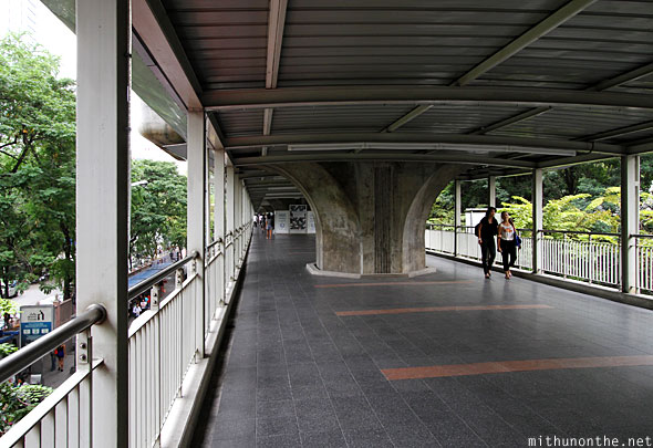 Ratchaprasong skywalk Sukhumvit BTS bridge