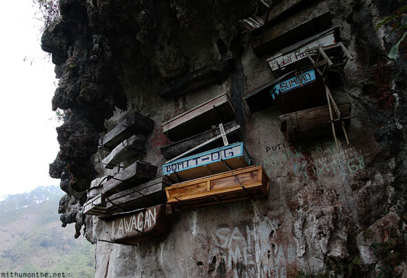 Sagada Hanging coffins Echo Valley Philippines
