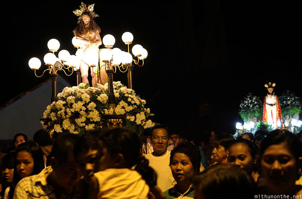 San Fernando night mass parade Philippines