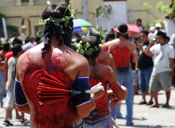 San Fernando Pampanga Good Friday flagellation