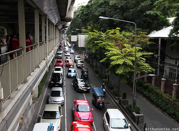 Sukhumvit road Bangkok traffic