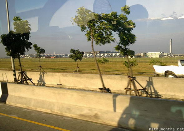 Suvarnabhumi airport from afar