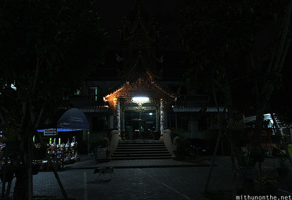 Wat Chaimongkol inside Chiang Mai night