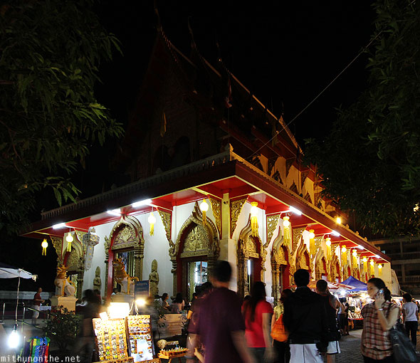 Wat Phan prayer hall Chiang Mai Thailand