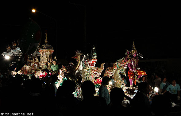 Amazing float Loy Krathong grand parade Chiang Mai