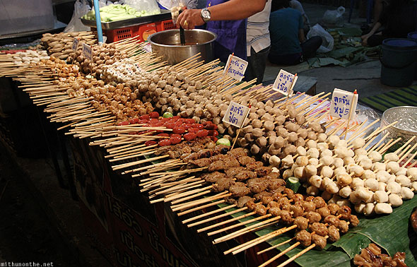 Barbecue boiled meat balls Chiang Mai