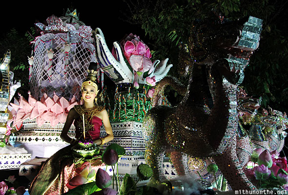 Beautiful float grand parade Loy Krathong
