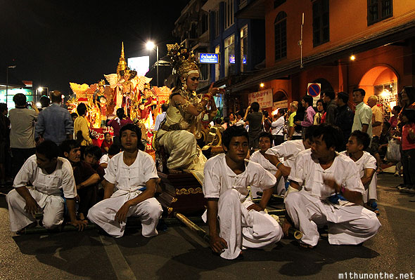Chiang Mai Loy krathong parade men