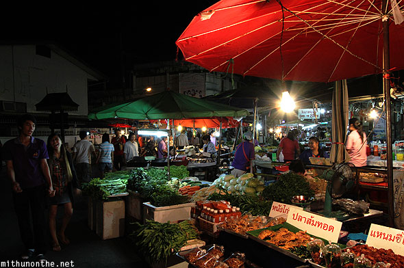 Chiang Rai evening market fresh vegetables