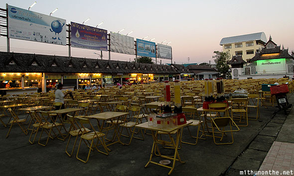 Chiang Rai night market food court evening