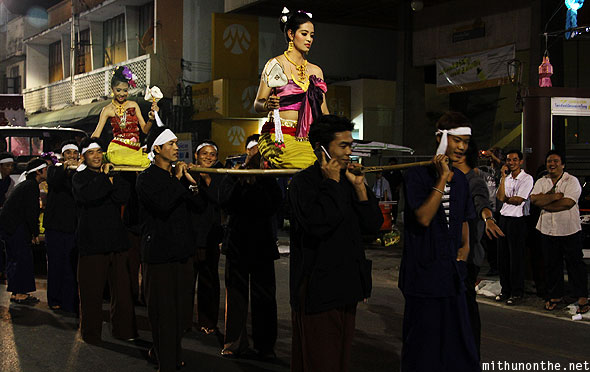 Chiang Mai grand parade traditional palanquin