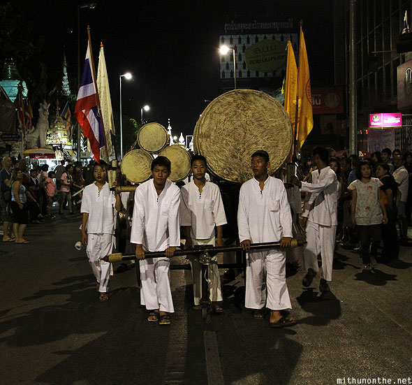 Chiang Mai Loi Krathong parade traditional drum