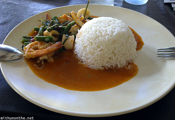 Chiang Mai lunch rice seafood curry