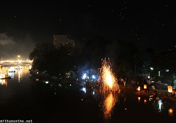 Chiang Mai Maeping river celebrations firework