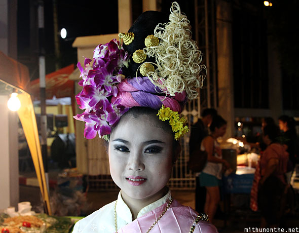 Chiang Mai Thai woman makeup geisha
