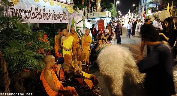 Chiang Mai Yi Peng parade animal buddhist monks elders