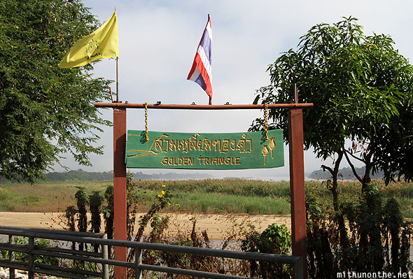 Golden Triangle sign Chiang Rai Thailand