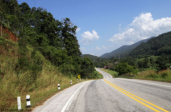 Highway to Chiang Rai from Chiang Mai