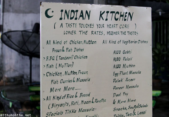 Indian kitchen Pakistani food Chiang Mai Thailand