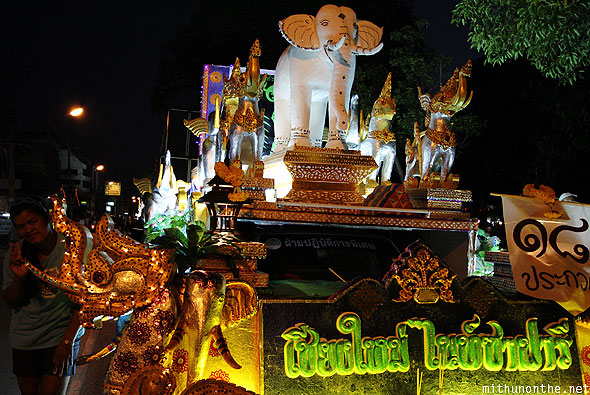 Loy Krathong grand parade elephant float