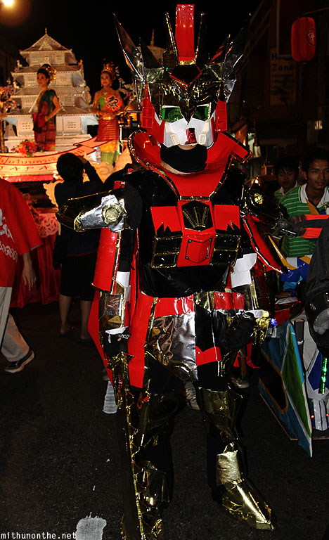 Loy Krathong grand parade Japan cosplay Gundam Chiang Mai