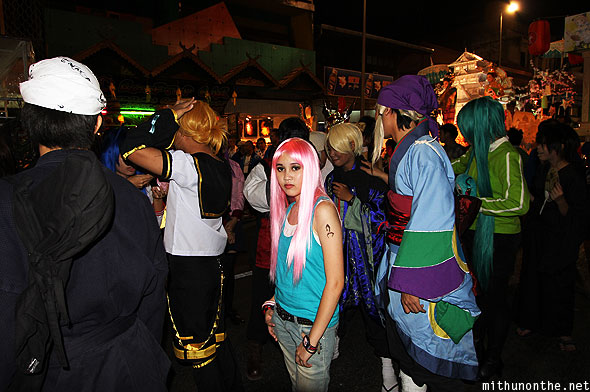 Loy Krathong grand parade Japan cosplay Thailand