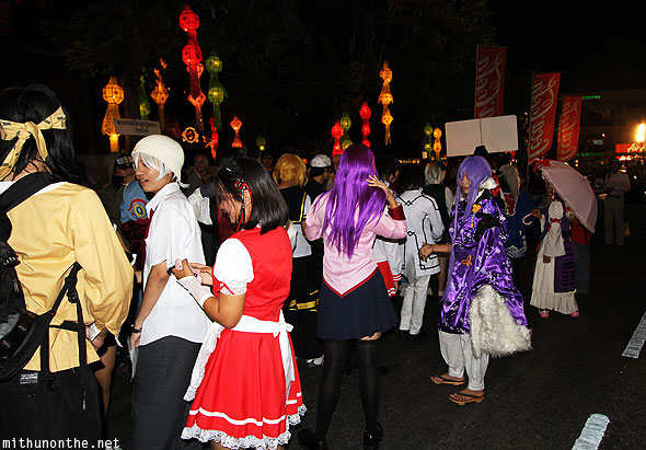 Loy Krathong grand parade Japan particpants