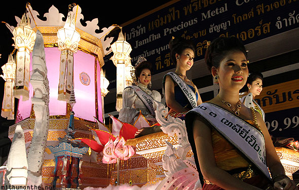 Loy Krathong grand parade beautiful Thai women
