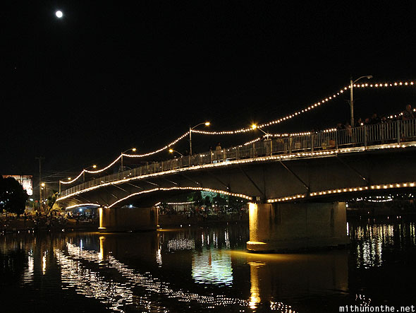 Loy Krathong ping river bridge lights