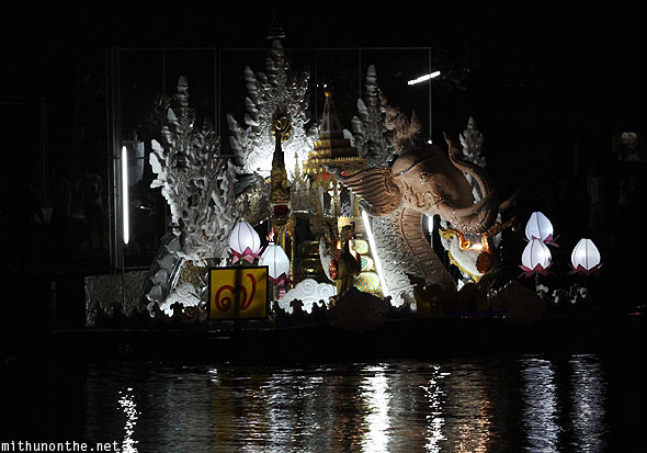 Mae Ping river Loi Krathong elephant float