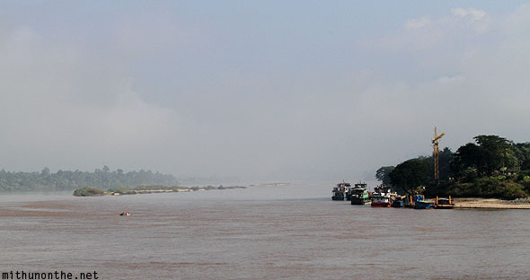 Mekong river Myanmar Laos view from Golden Triangle