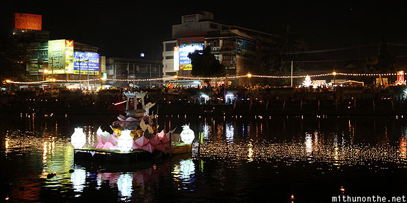 Ping river Loy Krathong float