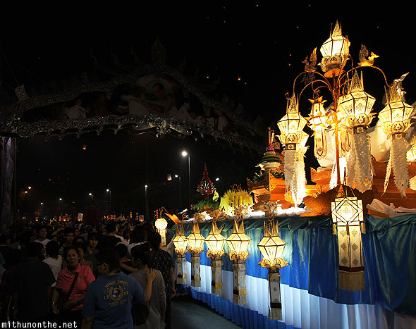 Thapae gate grand parade float lights