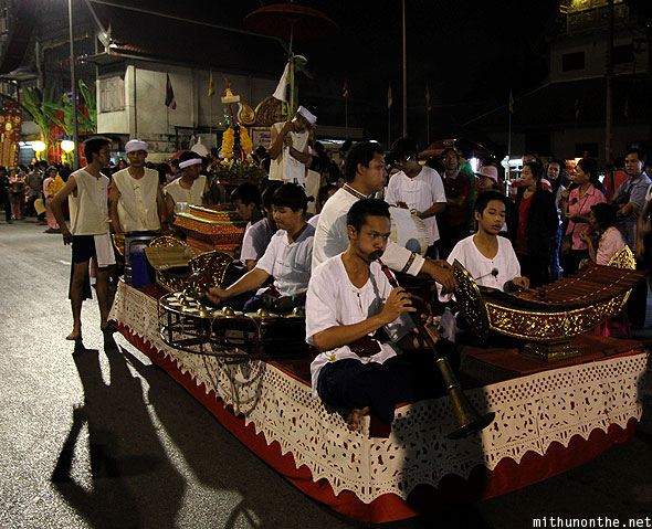 Traditional thai instruments Chiang Mai Loy Krathong