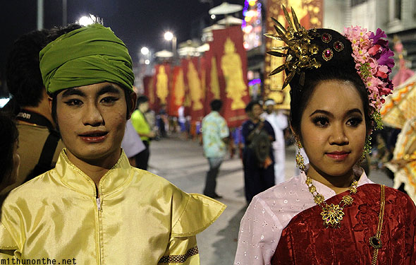 Traditional Thai makeup Loy Krathong grand parade