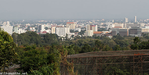 View Chiang Mai city from Chiang Mai zoo