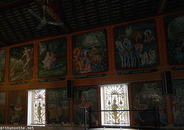 Wat Jedyod Indian god paintings Chiang Rai