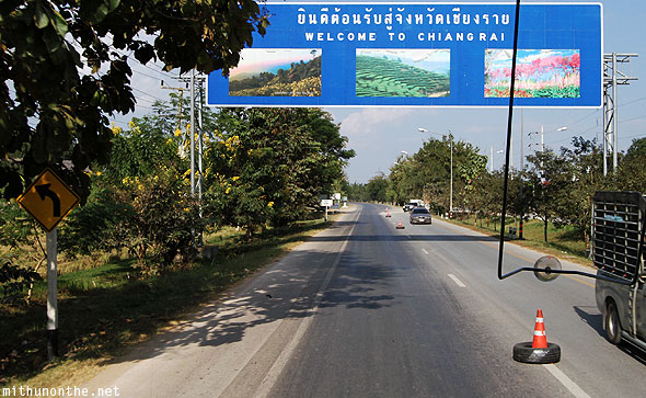 Welcome to Chiang Rai board highway sign
