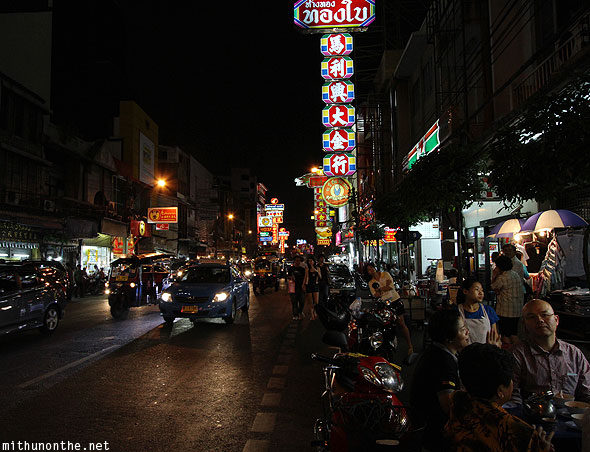 Bangkok Chinatown at night