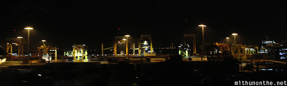 Bangkok port on way to Pattaya