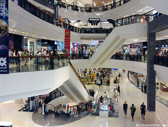 Central Festival mall interiors Pattaya Thailand