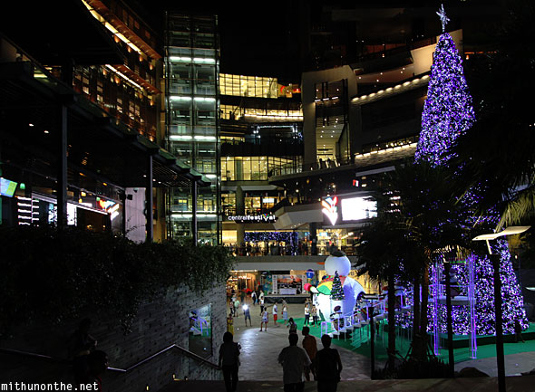 Central Festival mall X'mas tree Pattaya Thailand