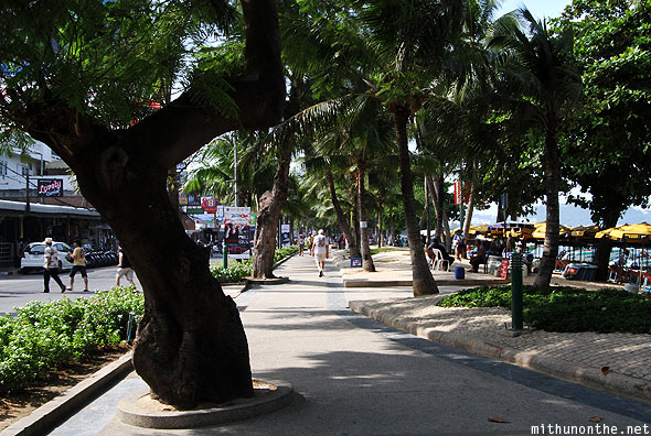 Central Pattaya beach walk