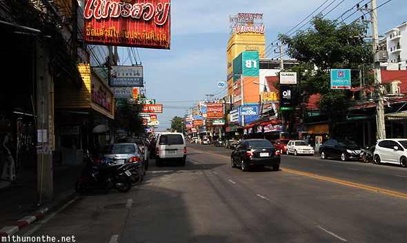 Central Pattaya road Thailand
