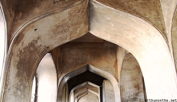 Charminar arches ceiling Islamic architecture Hyderabad