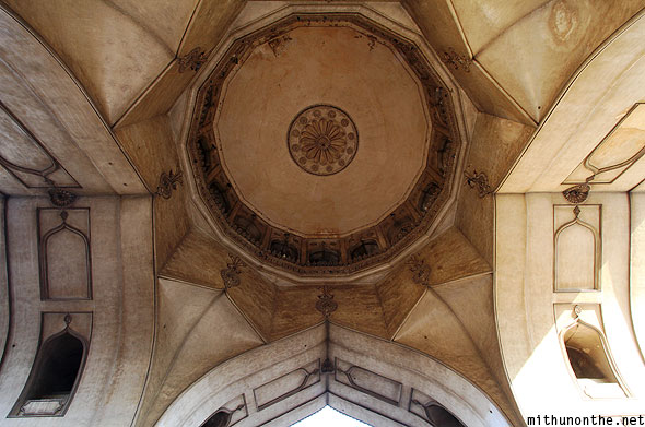 Charminar ceiling design from ground Hyderabad