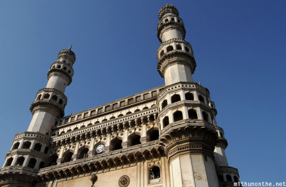 Charminar fort blue sky Hyderabad India