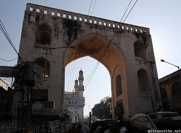Charminar fort entrance Hyderabad India