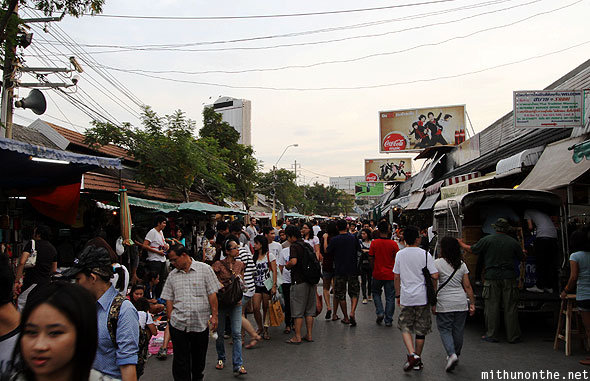 Chatuchak market crowd Bangkok